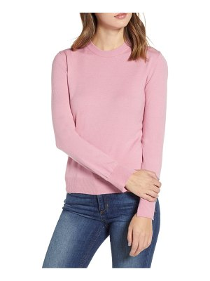 PRIMA notch sleeve crewneck sweater