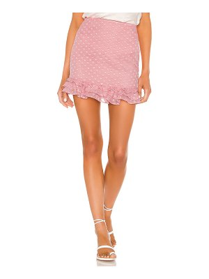 Privacy Please rose mini skirt
