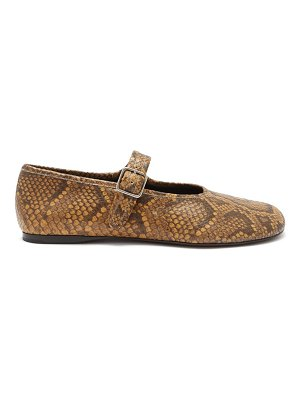 Proenza Schouler boyd python-effect leather mary jane flats