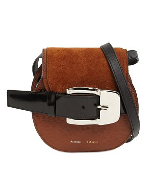 Proenza Schouler Buckle grained leather crossbody bag