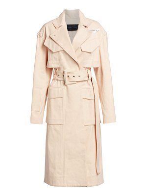 Proenza Schouler canvas denim belted trench