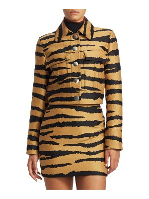 Proenza Schouler cropped tiger print jacket