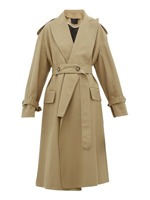 Proenza Schouler detachable lapel wool blend trench coat