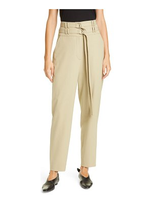 Proenza Schouler double belt high waist stretch wool pants
