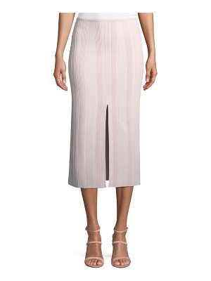 Proenza Schouler Double-Slit Ribbed Skirt