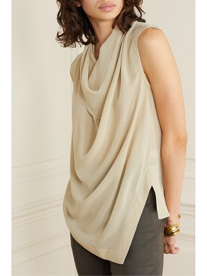 Proenza Schouler draped silk-georgette top