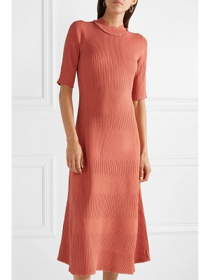Proenza Schouler frayed ribbed-knit midi dress