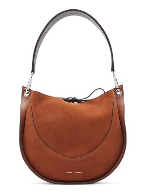 Proenza Schouler hobo small suede and leather shoulder bag