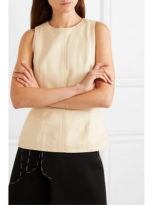 Proenza Schouler leather peplum top