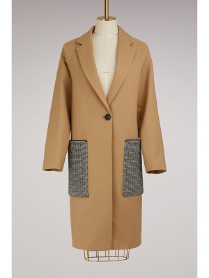 Proenza Schouler Long Wool Coat With Oversized Pockets