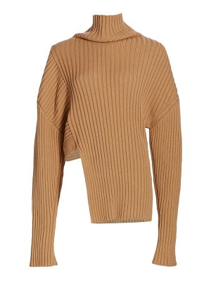 Proenza Schouler midweight ribbed asymmetric knit sweater