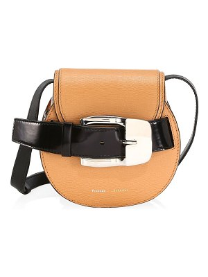 Proenza Schouler mini buckle leather saddle bag