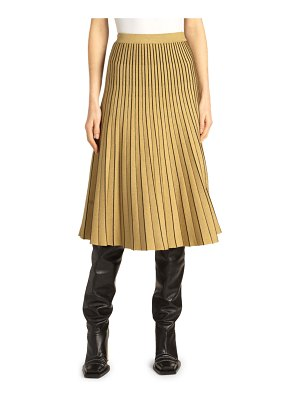 Proenza Schouler Piped Pleated Metallic Midi Skirt