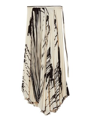 Proenza Schouler pleated asymmetric wrap skirt