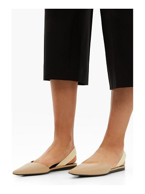 Proenza Schouler point-toe leather slingback flats