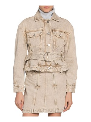 Proenza Schouler PSWL Belted Cropped Denim Jacket