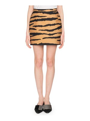 Proenza Schouler Tiger-Jacquard Straight Mini Skirt