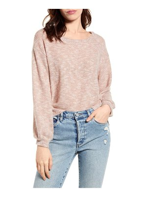 Project Social T cozy waffle knit top