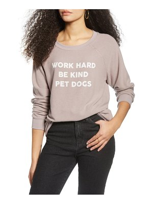Project Social T work hard brushed hacci long sleeve tee