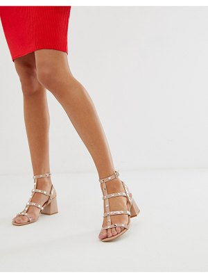 Public Desire always blush studded mid heeled sandals