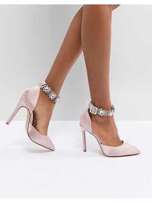 Public Desire Camly Pink Clear Detail Embellished Pumps