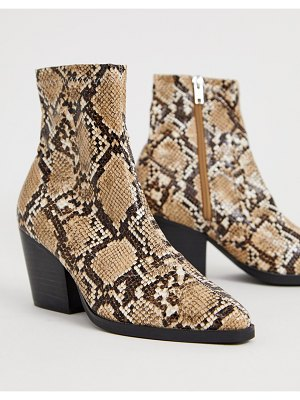 Public Desire charlie snake western boots