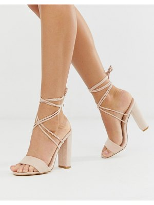 Public Desire suzu tie up block heeled sandals