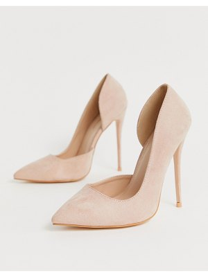 Public Desire sweet blush pink pumps