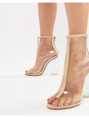 Public Desire tame clear heeled ankle boots