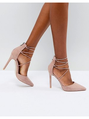 Public Desire volt tie up heeled shoes