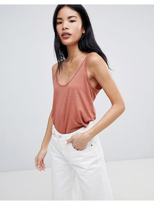 PULL & BEAR Basic Tank Top In Rust