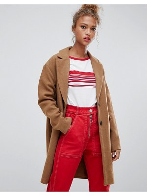 Pull & Bear button front coat