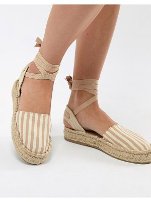 Pull & Bear espadrille with tie ankle