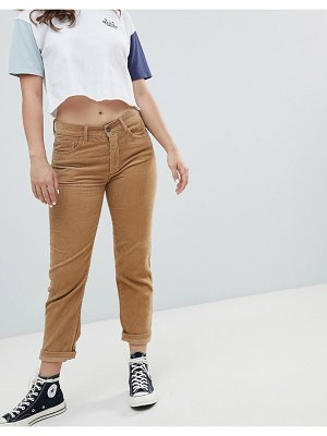 Pull & Bear cord mom jean in brown
