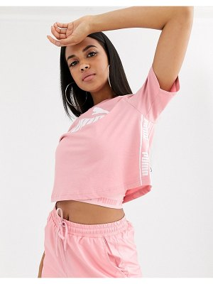 PUMA amplified crop tee in rose