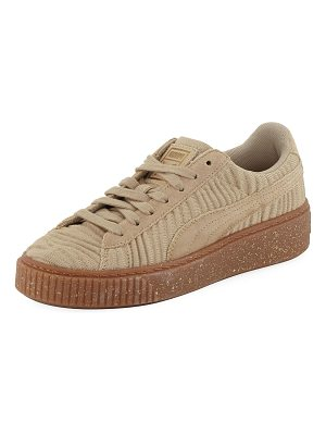 PUMA Basket Fabric Platform Sneakers