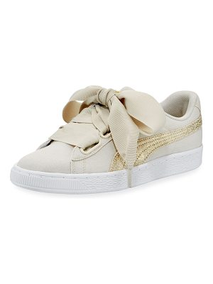 PUMA Basket Heart Canvas Sneakers
