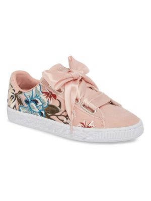 PUMA Basket Heart Hyper Embroidered Sneaker