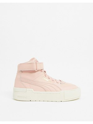 PUMA cali sport hi top sneakers in pink