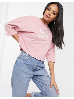 PUMA downtown oversized t-shirt in pink