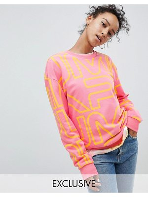 PUMA Exclusive To Asos Sweatshirt With All Over Logo In Pink