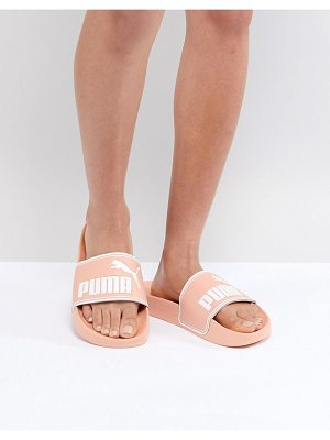 PUMA Leadcat Sliders In Pink