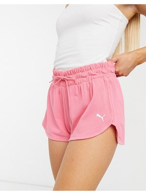 PUMA logo sweat shorts in pink