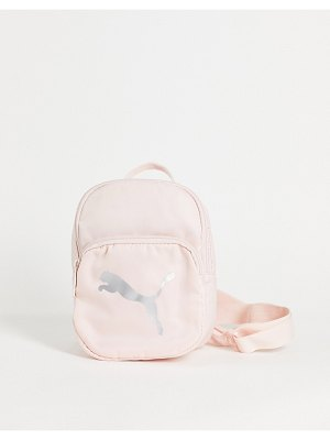 PUMA mini backpack in pink with silver logo