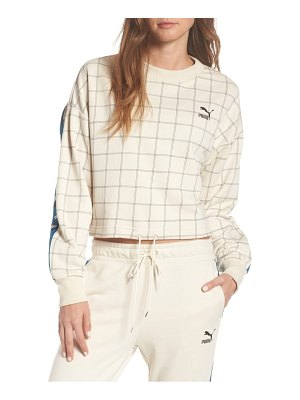 PUMA revolt mock neck crop sweatshirt