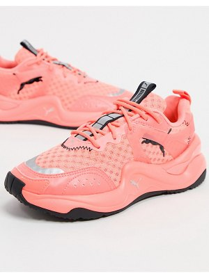 PUMA rise glow sneakers in neon pink