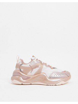 PUMA rise sneakers in rose gold-pink