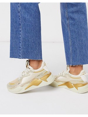 PUMA rs-x winter glimmer sneakers in gold