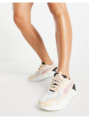 PUMA rs-x3 sneakers in beige and pink