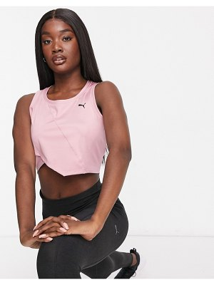 PUMA studio crop tank in pink